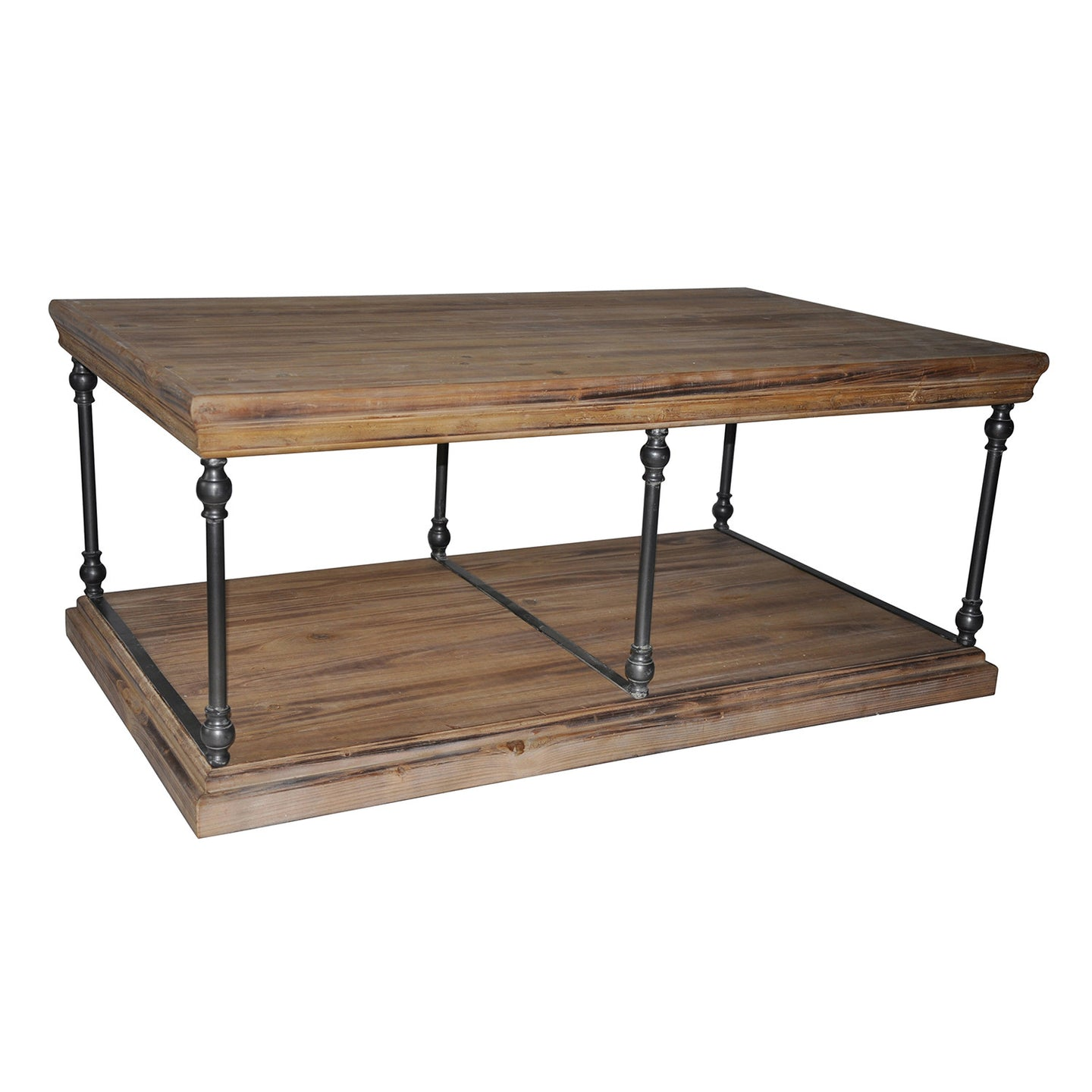 La Salle Metal and Wood Cocktail Table - The Rustic Furniture Store