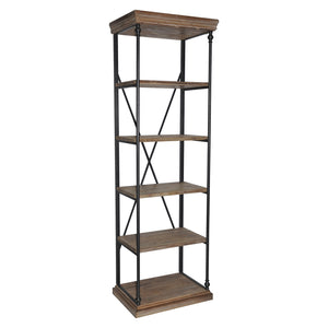 La Salle Metal and Wood Etagere - The Rustic Furniture Store