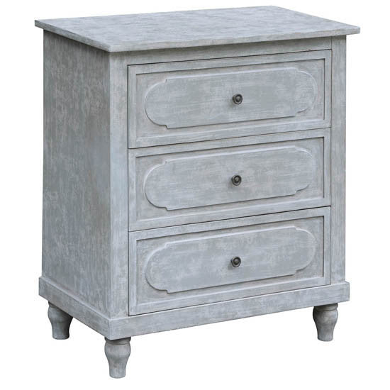 Callaghan 3 Drawer Cloudy Grey Chest By Crestview Collection Cvfzr2199