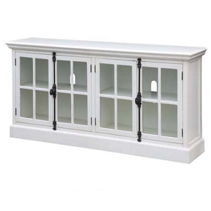 Coventry White Oak Finish 4 Door Media Console By Crestview Collection Cvfzr2208