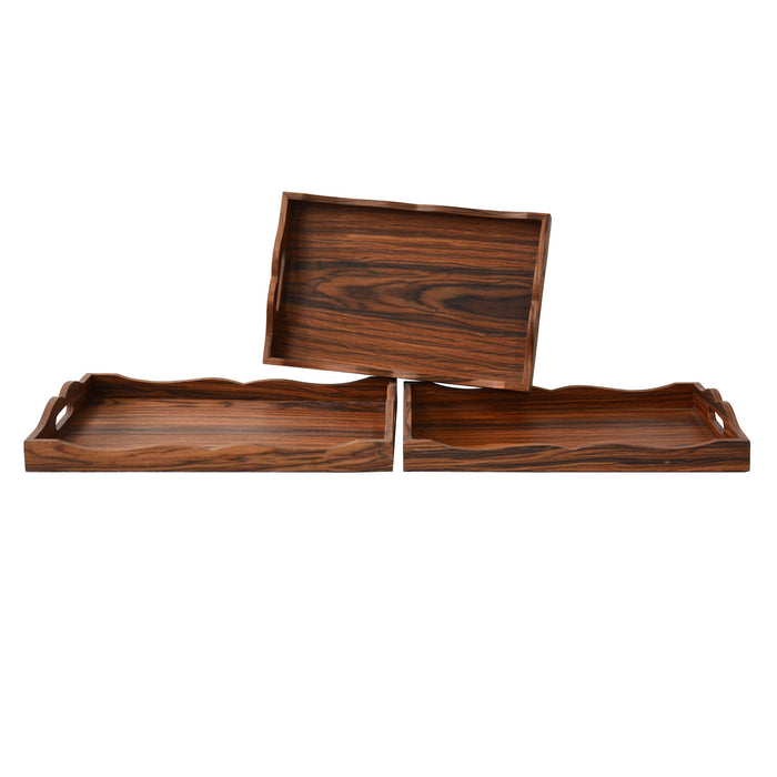 Wood Trays By Crestview Collection Cvtra381