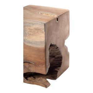 Natural Teak Wood End Table
