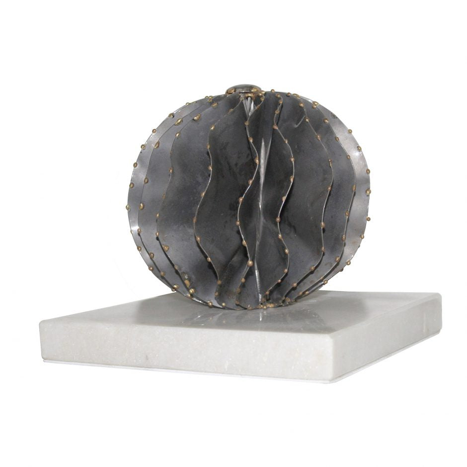 Iron Orb White Marble