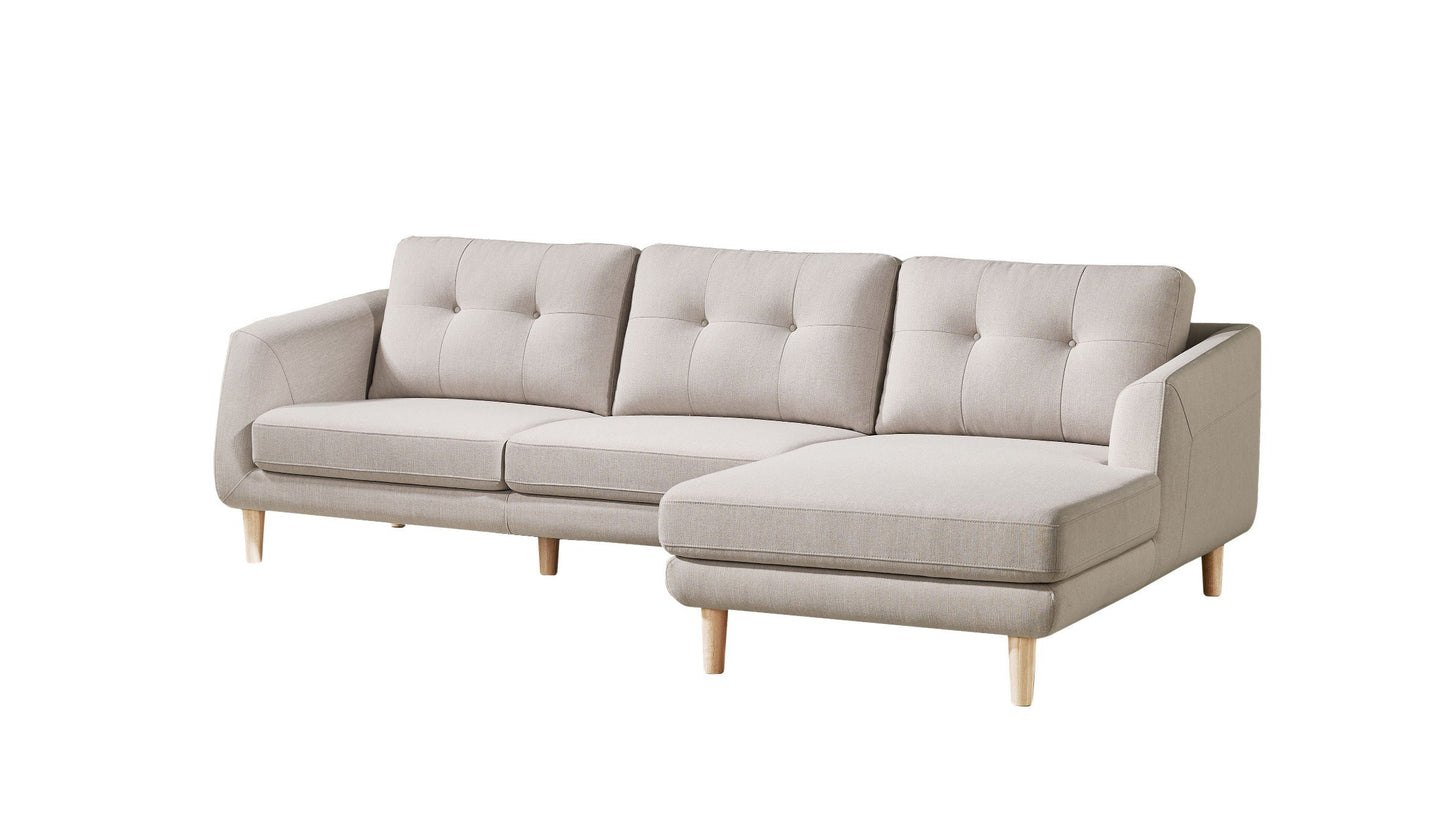Corey Sectional Light Grey Right