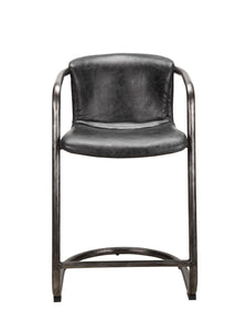 Freeman Counter Stool Antique Black-Set Of Two
