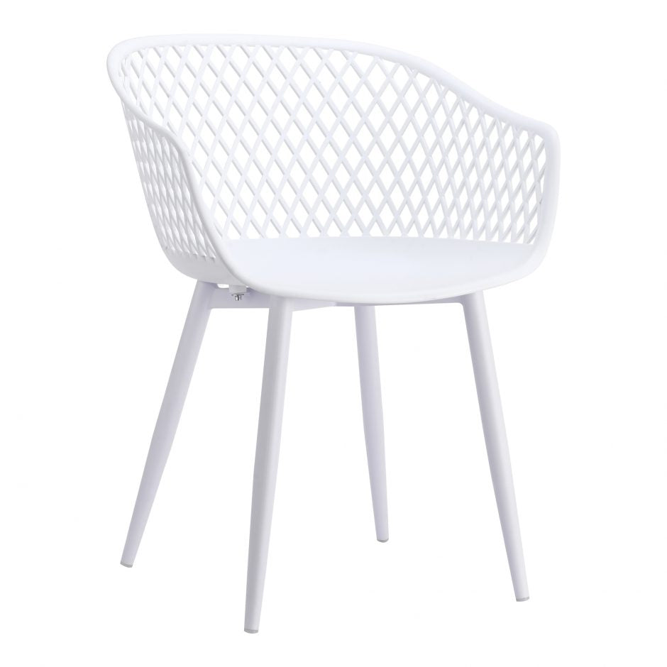 Piazza Outdoor Chair White-Set Of Two