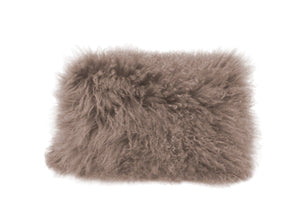 Lamb Fur Pillow Rect. Grey