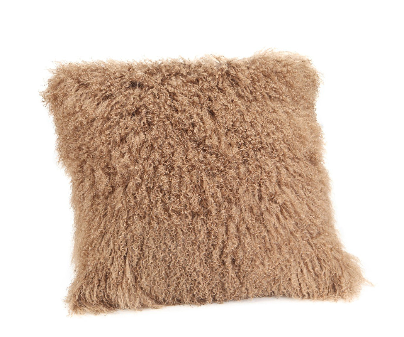 Lamb Fur Pillow Large Natural