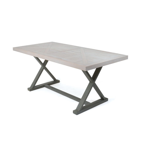 Boca Wood and Aluminum Small Dining Table by Go Home Ltd. 20095