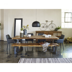 Bent Dining Table Large Smoked