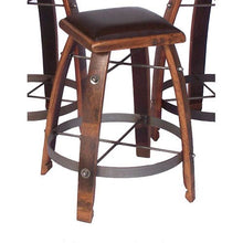 "Wine Barrel Bar Stool 24"" Chocolate Leather by 2 Day Designs 818C24"