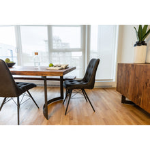 Bent Dining Table Small Smoked