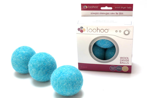 LooHoo Wool Dryer Balls Deluxe 3-Pack