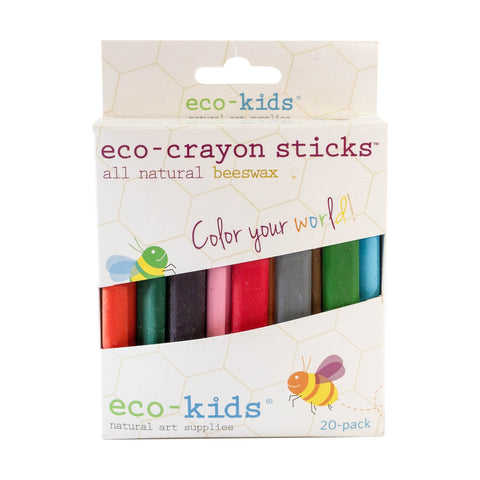 eco-kids Beeswax Crayon Sticks 20-pack