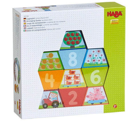 Haba Numbers Farm Arranging Blocks
