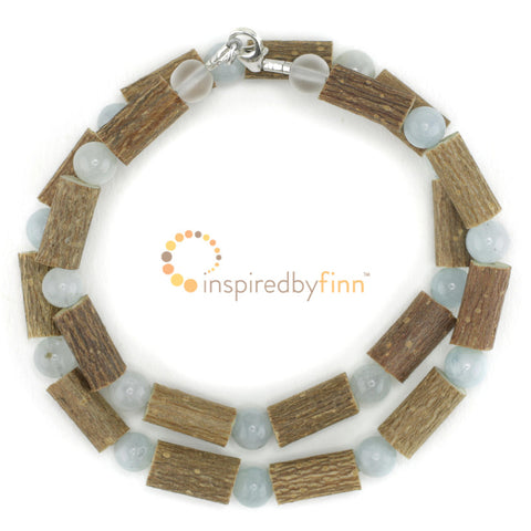 Inspired by Finn Beaked Hazel Wood & Gemstone Necklaces (Children's Sizes)
