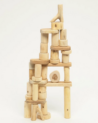 Tree Blocks Bark-less Set - 36 Pieces