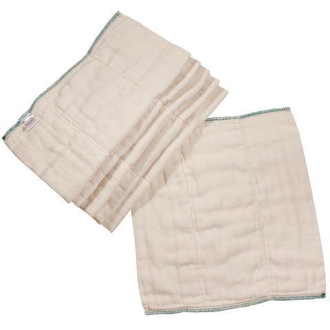 Osocozy Bamboo/Organic Cotton Better Fit Prefold (6 Pack) *CLEARANCE*