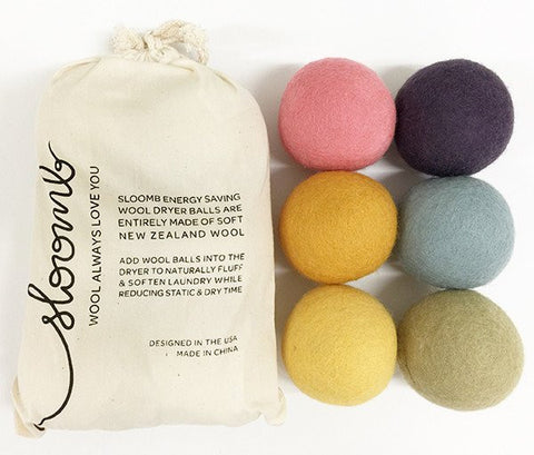 Sloomb Wool Dryer Balls 6-Pack
