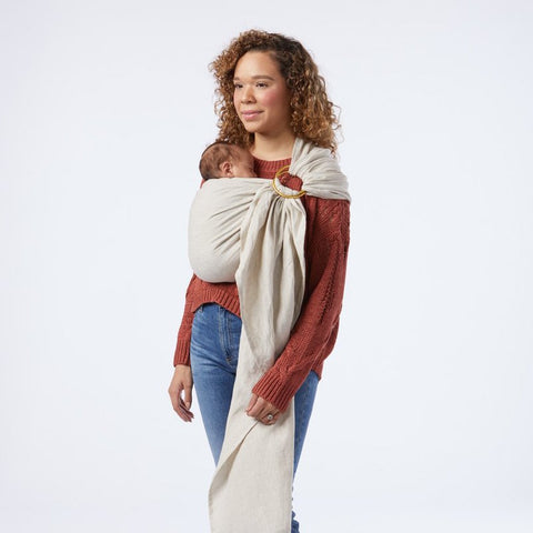 Sakura Bloom Basic Double Layer Linen Ring Sling