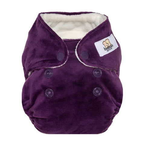 GroVia Buttah Velour Newborn All-in-One (Snap Closure)