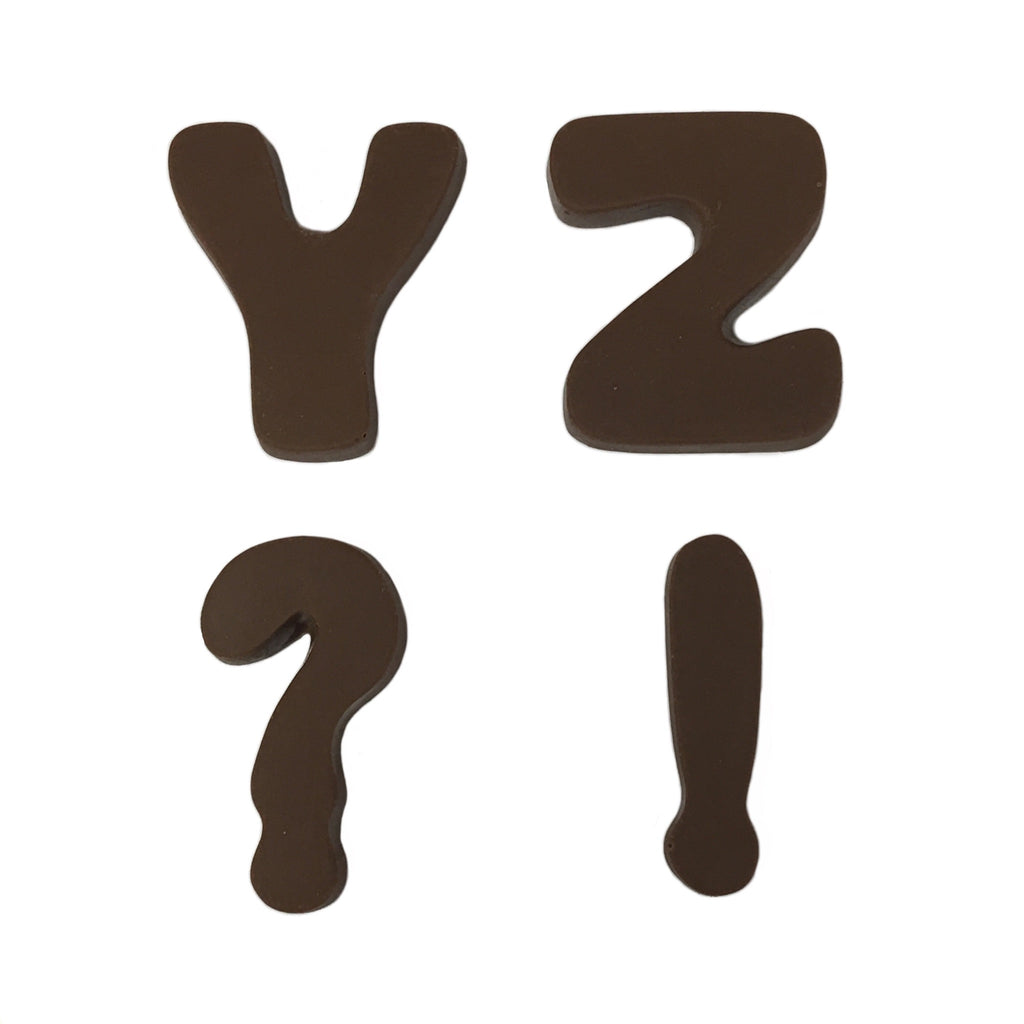 Medium Bubble Letter Y, Z, !, ?