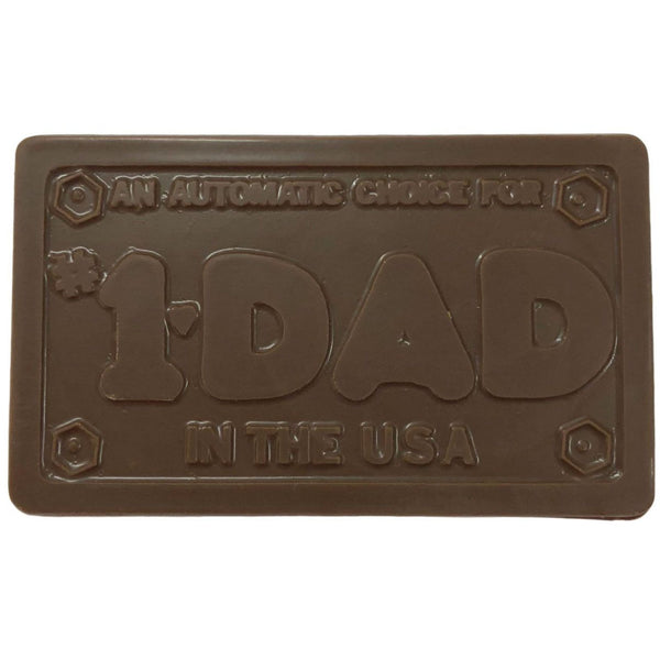 #1 Dad License Plate Bar
