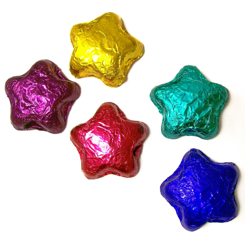 Dark Chocolate Foil Stars