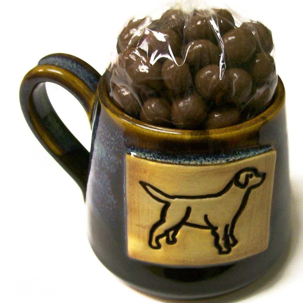 Henry Krause Handmade Mug- Filled with Choc. Covered Coffee Beans
