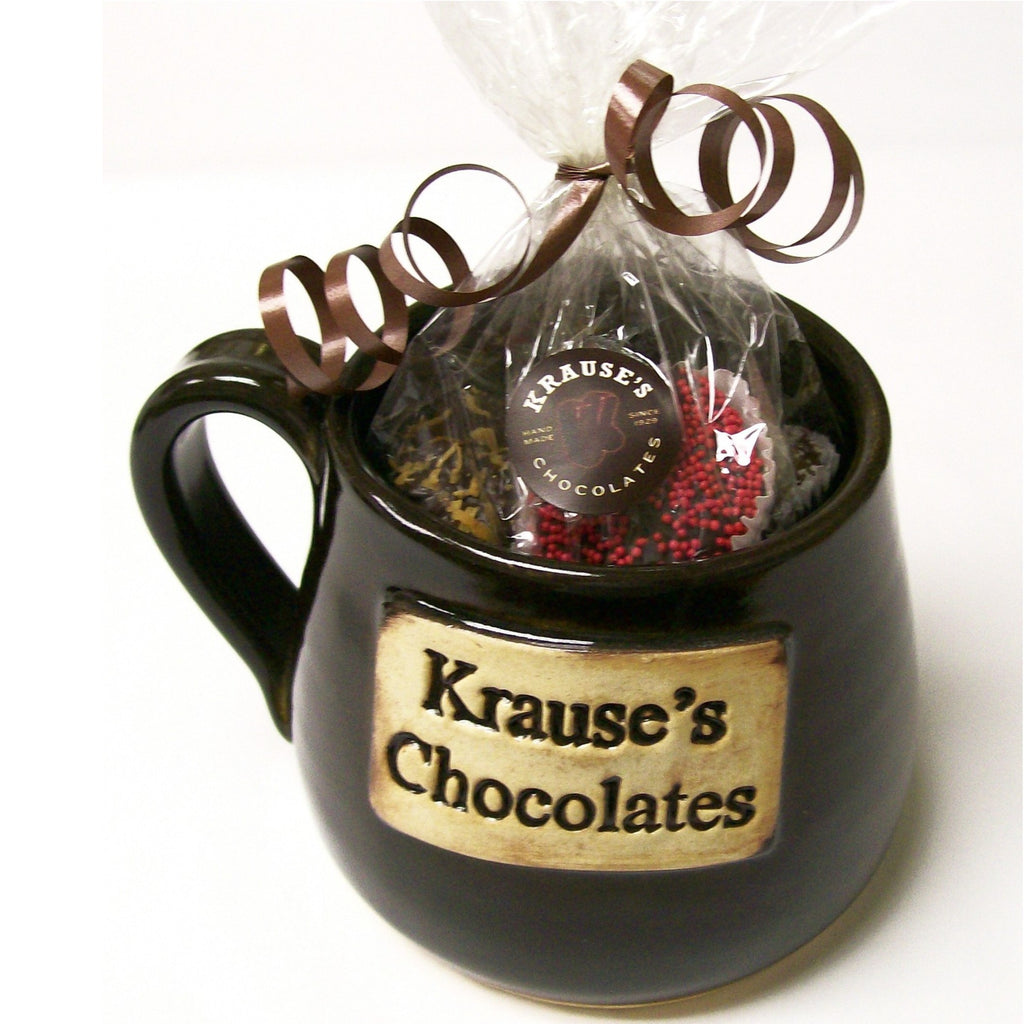 Krause's Chocolates Handmade Mug- Filled w/ Hand Dipped Chocolates