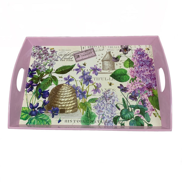 Lilac Wooden Tray