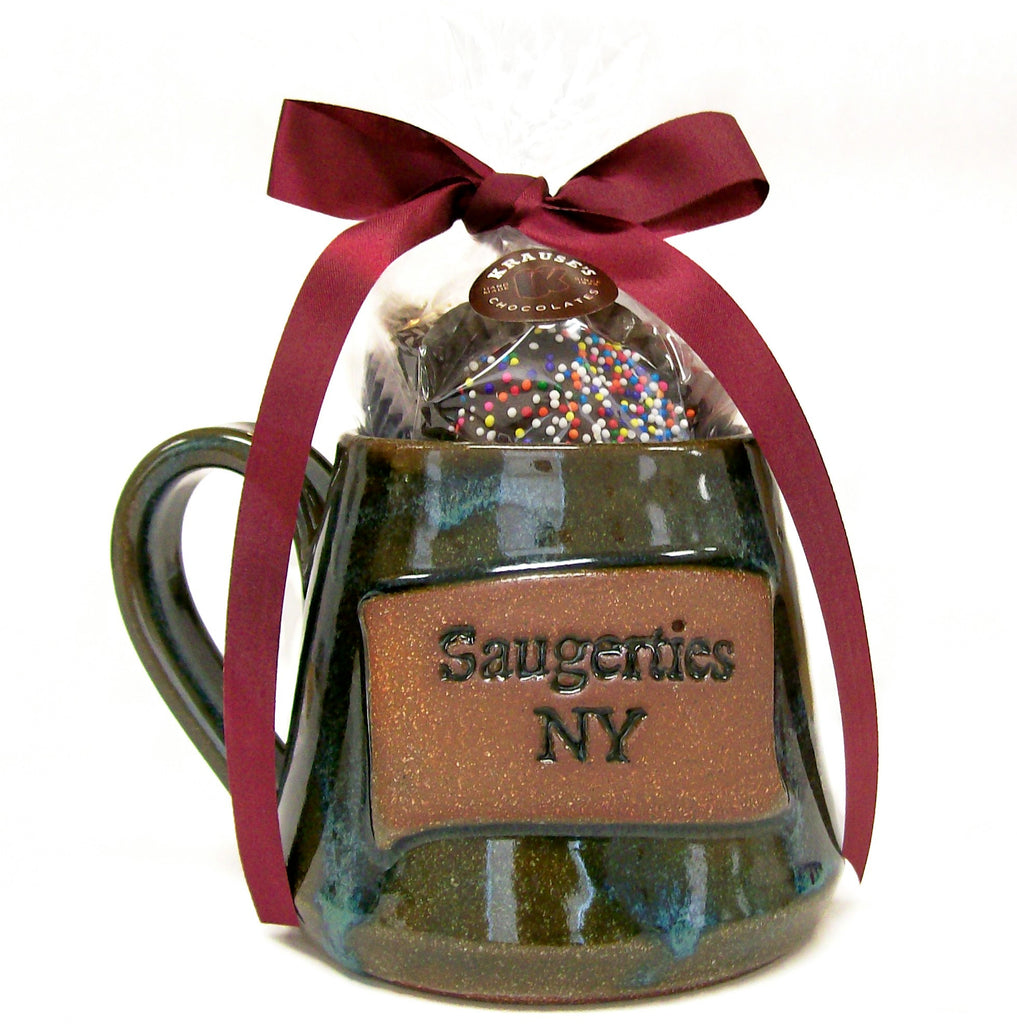 Saugerties Handmade Mug - Filled w/ Hand Dipped Chocolates