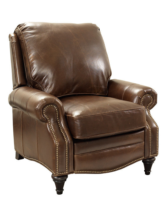 barcalounger avery 100% leather recliner