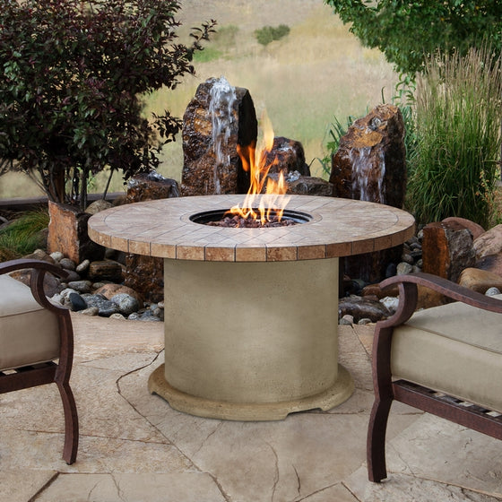 REAL FLAME 11622LP OGDEN ROUND PROPANE FIRE TABLE