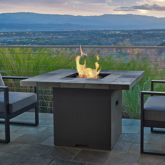 REAL FLAME 11624LP SALIDA SQUARE PROPANE FIRE TABLE