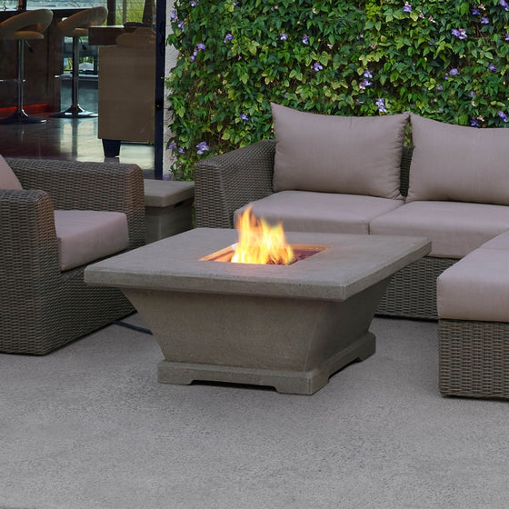 REAL FLAME 11706LP MONACO LOW SQUARE PROPANE FIRE TABLE