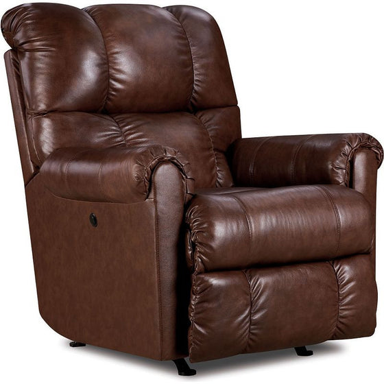 Lane Eureka Top Grain Leather Rocker Recliner with Power Recline (saddle)