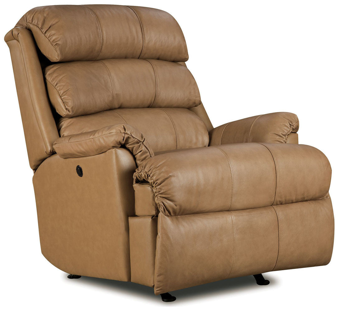 Preferred Lane Revive Leather Rocker Recliner | Tan Leather Recliner - Lift  SC36
