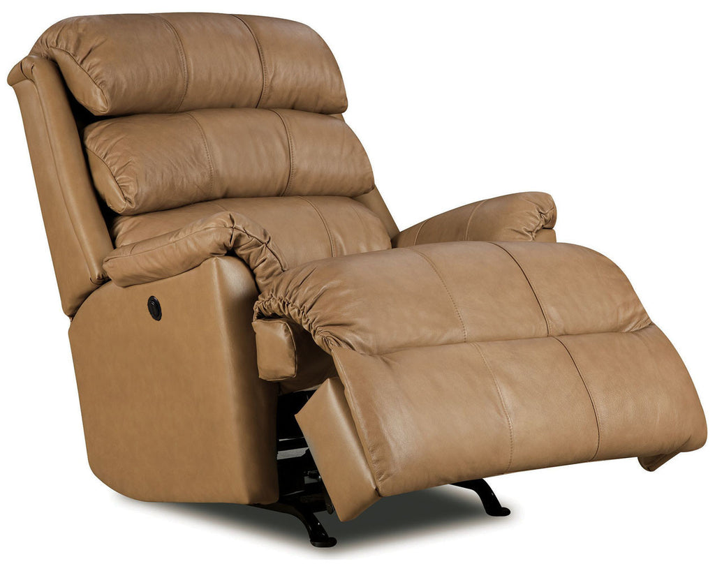 Lift and Massage Chairs Lane Revive Leather Rocker Recliner Tan