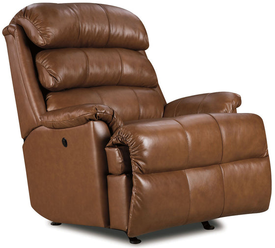 Lift and Massage Chairs Lane 11958 Revive Leather Rocker Recliner Tobacco