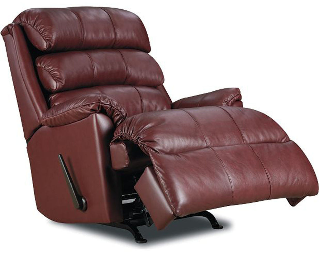 Revive Leather Rocker Recliner (burgundy)