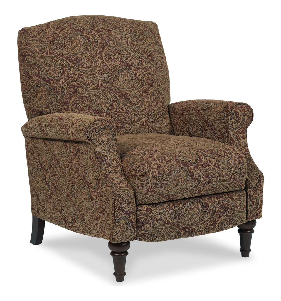 Lane Chloe Hide-a-Chaise High-Leg Recliner (paisley)