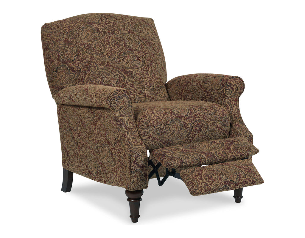 Chloe Hide-a-Chaise High-Leg Recliner (paisley)