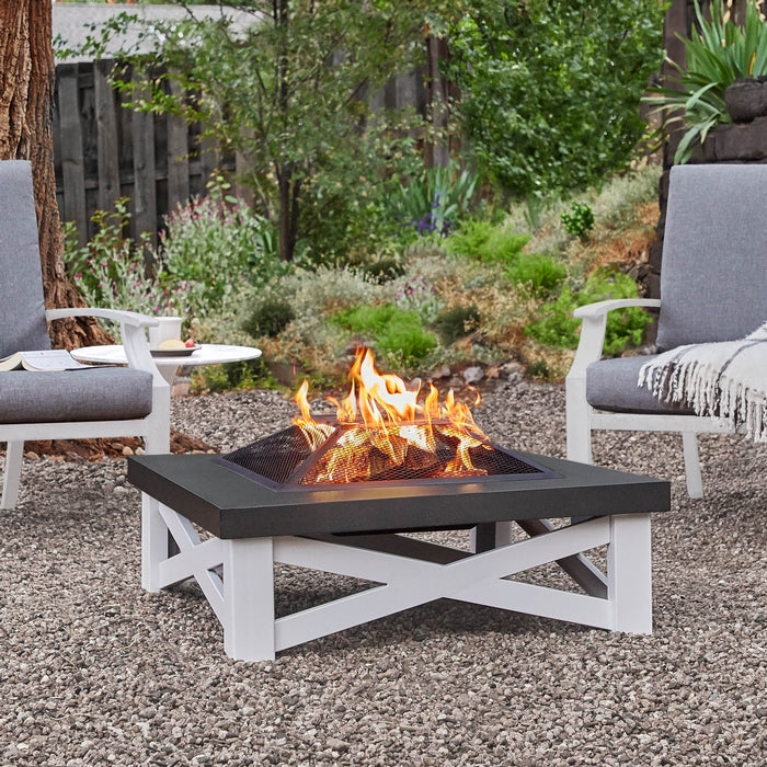 REAL FLAME 350 AUSTIN WOOD BURNING FIRE TABLE