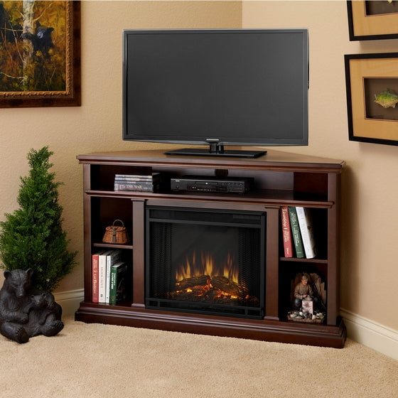 Real Flame 3750E Churchill Corner Entertainment Electric Fireplace