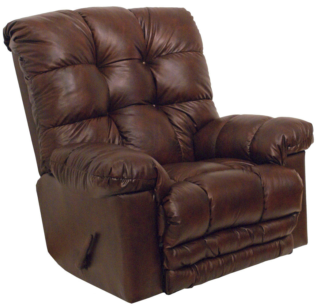 Catnapper 4459 Cloud 10 Leather Recliner Sable