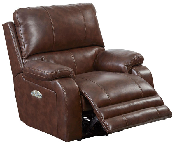 Catnapper Thornton Recliner Leather Power Lay Flat