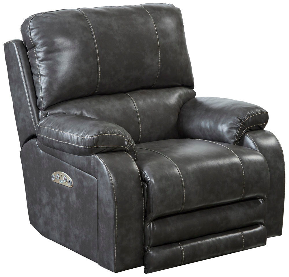 Catnapper Thornton Recliner Leather Power Lay Flat Recliner Lift And Massage Chairs