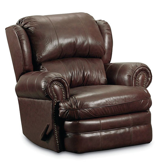 Lane Hancock Top Grain Leather Rocker Recliner