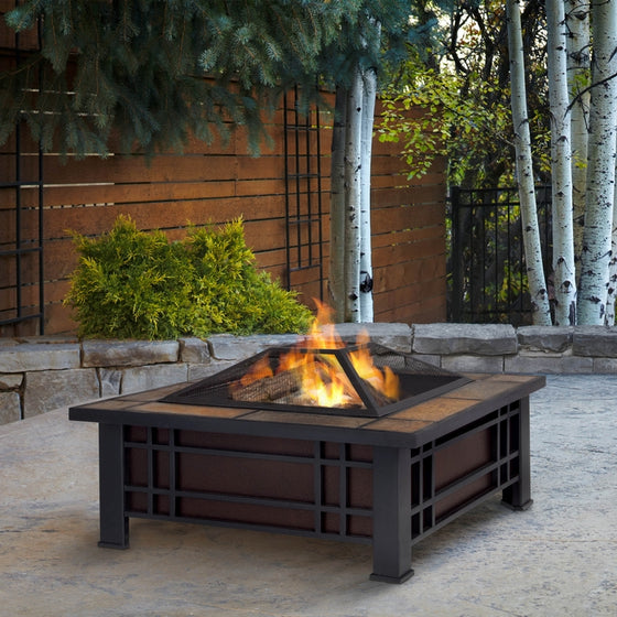 REAL FLAME 906 MORRISON FIRE PIT